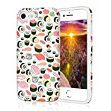 ZQ-Link Coque iPhone 8, Coque iPhone 7, Sushi Burger Coque Silicone Motif, Housse Etui de Protection Bumper en TPU Souple Lustré [Anti Choc] [Anti Rayures] [Ultra Fine]...