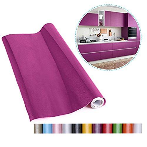 liveinu papel pintado autoadhesivo, color sólido para armario de cocina en PVC...