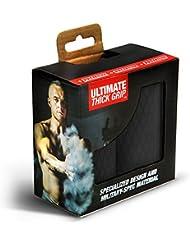 + Premium - Ultimate Thick Grip - Bilanciere e manubri spessi Grips - aumento avambraccio, bicipiti, tricipiti, pettorali e allenamenti, Black