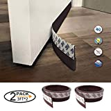 Bloomoak Self-Adhesive Weatherstrip Silicone Door Seal Strip Sweep Draft Stopper (Brown) - 2