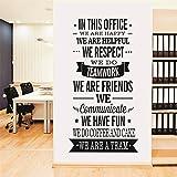 Yanqiao Arbeitsgruppe Englische Wörter Wandtattoo Wandaufkleber Wand Aufkleber DIY für Büro Entfernbares Vinyl Kunst Haus Dekoration Größe 57x120cm,Schwarz