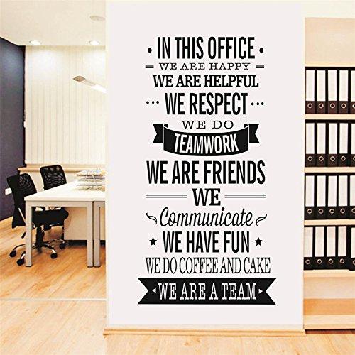 Yanqiao lavoro Team Slogan Parole inglesi adesivi da parete per ufficio decorazione da parete vinile rimovibile Art Home decorazione dimensioni 56,9x 119,9cm Nero Black