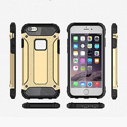 UKDANDANWEI iPhone 6 plus / 6S plus Hülle - Leathlux Silikon & PC 2 in 1 Hybrid Kombination Dual Layer Hintere Hülle Schutzhülle Stoßfest Bumper Rückdeckel Schale Tasche Cover Case mit Faltbar Stehen  Rose Gold