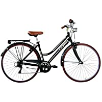 Coppi Woman Retro, City Bike Donna, Nero, M