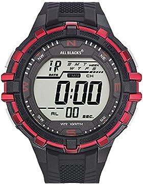 All Blacks–680228–Zeigt Herren–Quartz Digital–Zifferblatt schwarz Armband Kunststoff schwarz