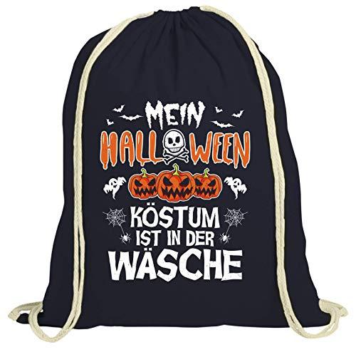 Coole Kostüm Halloween Gruppe - ShirtStreet Partner Gruppen natur Turnbeutel Rucksack Gymsac Mein Halloween Kostüm ist in der Wäsche, Größe: onesize,dunkelblau natur