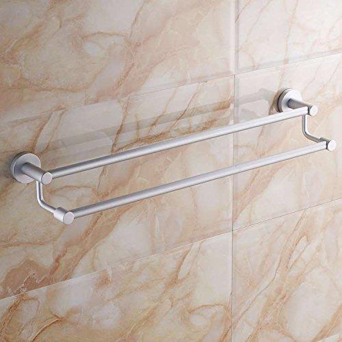 Hlluya Handtuchhalter Das Badezimmer Handtuchhalter Wandhalterung Badezimmer Handtuchhalter Handtuch Platz Aluminium EIN- und zweipolige Doppel Stab, 30 cm