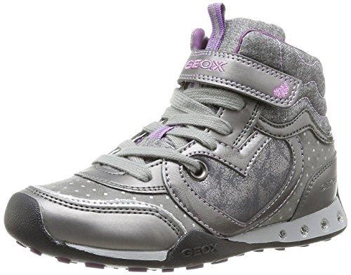 Geox JR NEW JOCKER GIRL, Mädchen Sneakers - Grau (DK GREYC9002), 30 EU (11.5 Kinder UK) - Geox Jocker Girl