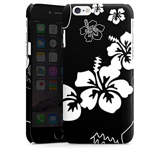 Apple iPhone 5 Housse Étui Silicone Coque Protection Fleurs Fleurs Noir et blanc Cas Premium brillant