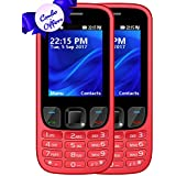 I KALL K6303 Dual Sim 2.4 Inch Display Combo Of Two Basic Mobile Feature Phone With 1800 Mah Battery Capacity - Red & Red