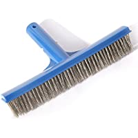 DMAR 25.5cm Cabeza de Cepillo de Limpieza de Piscina con cerdas de Acero Inoxidable Paredes y Pisos Scrub