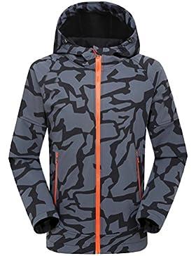 Zhhlinyuan Fashion Mens Soft Shell Jacket Al aire libre Sports Waterproof Camouflage Jacket