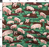 Schweine, Bauernhof, Tiere, Gras, Stoffe - Individuell