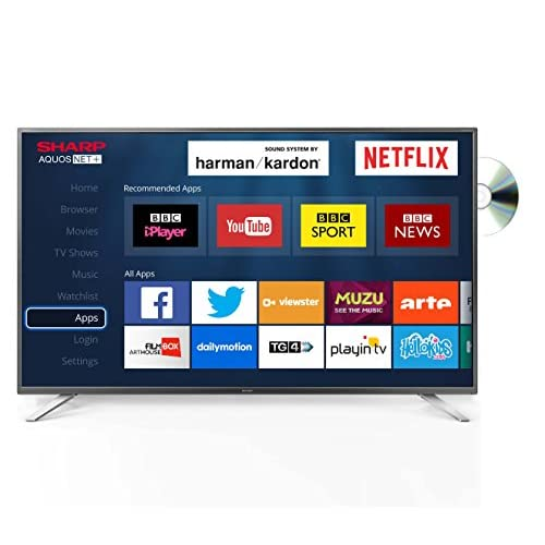 51hR709lIDL. SS500  - Sharp LC-55CUG8362KS 55-Inch Ultra HD 4K LED Smart TV with Freeview HD, Silver