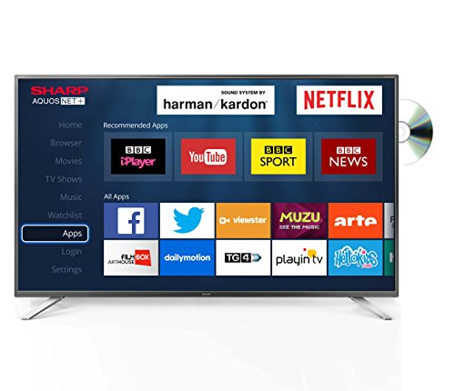 Sharp LC-32DHG6021K 32-Inch Widescreen LED Smart DVD TV with Freeview HD - Black/Silver
