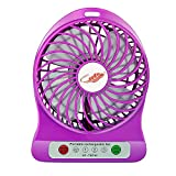 #10: Unbranded Mini Portable Usb Rechargeable 3 Speed Fan Colors May Vary