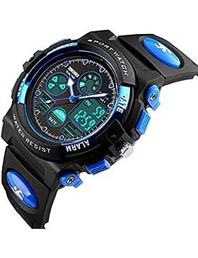 [Gesponsert]Uhren, Kinderuhren, Jugenduhren, digitale Uhren, Outdoor- und wasserdichte elektronische Uhren, digitale Displays...