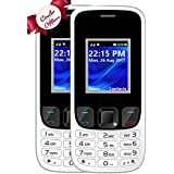I KALL K29 Dual Sim Mobile Combo Of Two Basic Feature Mobile Phone With Bluetooth, GPRS, Flash Light And 1800 Mah Battery Capacity - White & White