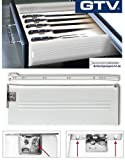 Metabox Metal Drawers Sides/Runners Slides Rollers Set - Silver H150 mm L550 mm by GTV