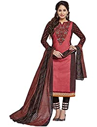 Baalar Women's Cotton Unstitched Dress Material (2012_Multicolor_Free Size By Onkar Trading )