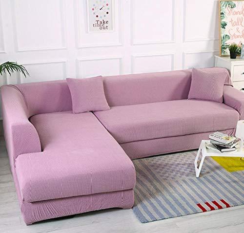 NHFGJ Funda elástica para sofá de Violeta claroColor sólido Universal Todo Incluido...