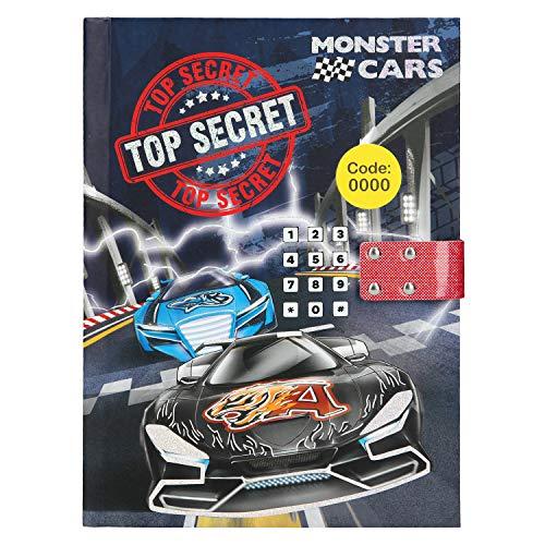 Depesche 10556 Tagebuch mit Code und Sound Monster Cars, blau, bunt Monster-schloss