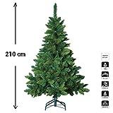 Sapin de Noël artificiel blooming - Hauteur 2m10 - 880 Branches - Qualité luxe - Coloris VERT