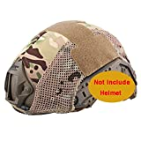 Casco Táctico de Combate Fast PJ de Emerson Bj MH Funda para casco camuflaje (MultiCam MC), sin casco para Militar para Airsoft y Paintball (diseño