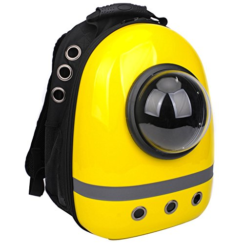 Portable Bubble Pet Travel Backpack Airline Travel Approved Carrier Transparent Breathable Waterproof Space Capsule Backpack For Pet Backpack Carrier Space Capsule Breathable Waterproof Travel Bubble Backpack For Cat Dog Puppy Small Animals Cat Dog Puppy Small Animals