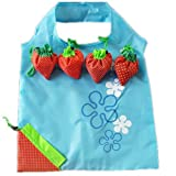 Wiederverwendbare Einkaufstaschen, favolook Eco Erdbeere Faltbar Kunststoff Lebensmittels Tote Frauen Aufbewahrungsbeutel 8Farben blau