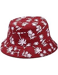 TININNA Estivo Unisex Coconut Tree Stampe Cotone Bucket Hat Cappello da  Pescatore Berretti Visiera di Sole 534a0abf1294