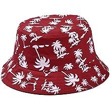 TININNA Estivo Unisex Coconut Tree Stampe Cotone Bucket Hat Cappello da  Pescatore Berretti Visiera di Sole 2a1f4b513580
