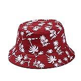 TININNA Estivo Unisex Coconut Tree Stampe Cotone Bucket Hat Cappello da  pescatore Berretti visiera di sole 880a41d58ec7