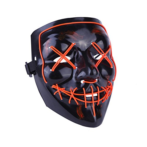 r Glühende Maske Geist Walking Dance Maske Grimasse Kaltlicht Maske ()
