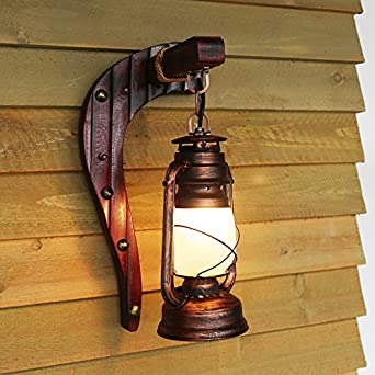 Alte antike Schlafzimmer Balkon Wand retro Bambus lampe Petroleum ...