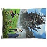 Stampa in poliestere e cotone Collection howl' S Moving Castle cuscino Covers custodia con cerniera 40,6x 61cm 40x 60cm
