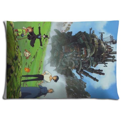 Cara Moving Comfort (Print Collection Polyester und Baumwolle Kissen Kissenbezüge Howl 's Moving Castle Fall Reißverschluss 40,6x 61cm 40x 60cm)