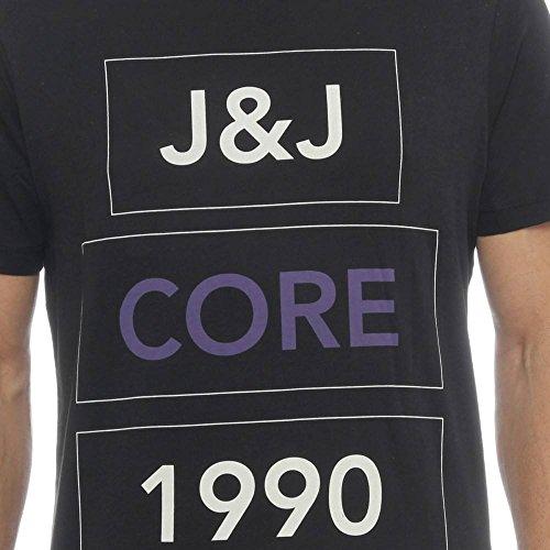 JACK & JONES Herren T-Shirt Schwarz