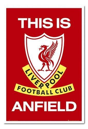 Poster Liverpool FC This Is Anfield Magnettafel weiß Rahmen, 96,5x 66cm (ca. 96,5x 66cm)