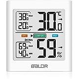 HOPLAZA Termómetro Higrometro Digital para Interior Medidor de Temperatura y Humedad Registros Mínimos/Máximos Pantalla LCD p