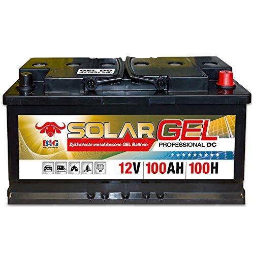 Preisvergleich Produktbild BIG Solar DC GEL 12 V / 100 Ah (100h) Antrieb Beleuchtung Batterie Versorgungsbatterie
