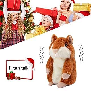 Pawaca Hamster Plüsch Toys, Reden Hamster Wiederholt Was Sie Sagen, Elektronische Haustier Reden Plüschtier Buddy Maus Interaktives Spielzeug für Kinder (Braun)