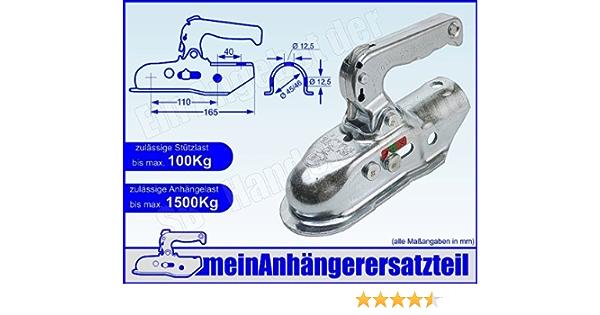 Albe Berndes Zugkugelkupplung Kugelkupplung Zugrohr Rohr 45mm 46mm Em 150 R A 05345 Für Pkw Anhänger Auto