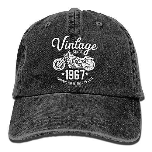 Osmykqe Berretto da Baseball Regolabile in Cotone Tinto Vintage Adulto  Lavato 50 ° Compleanno Vintage Retro 9870af06f752