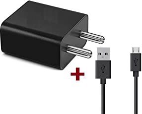 Fast Charger Compatible For Xiomi Mi Note 4 / Mi 5A / Mi Note 5 / Note 5 Pro Charger Adapter Like Mobile Charger Xiomi Redmi 3S Prime / Xiomi Mi Redmi 4 / Redmi 4A / Redmi Note 4 Compatible Charger Like Wall Charger With 2 ampere 1 Meter Micro USB Cable Charging Data Cable 1 Mtr.-(White/Black) By Ahmad Enterprise