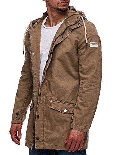 Eight2Nine Herren Parka mit Kapuze Übergangsjacke Outdoorjacke Jacke Kapuzenjacke Mantel Beige S M L XL XXL - 5