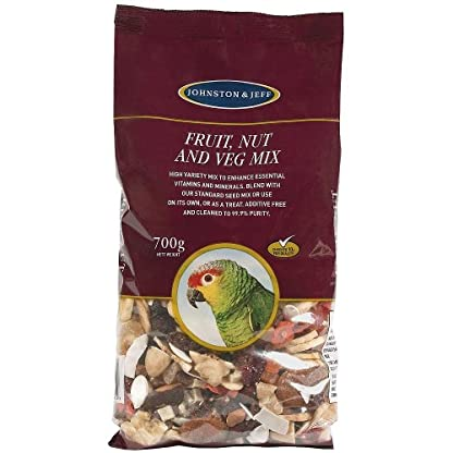 Johnston & Jeff Cage Bird Fruit Nut & Veg Mix Bird Food 700g 2