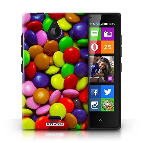 Kobalt® Imprimé Etui / Coque pour Nokia X2 Dual Sim / Skittles conception / Série Bonbons Smarties