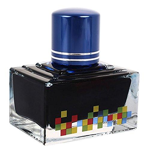 aprettysunny glasflasche tinte schwarzen stift tinte dauerhafte 40 ml 12 farben pen zubehör büro - Dauerhafte Schwarze Tinte