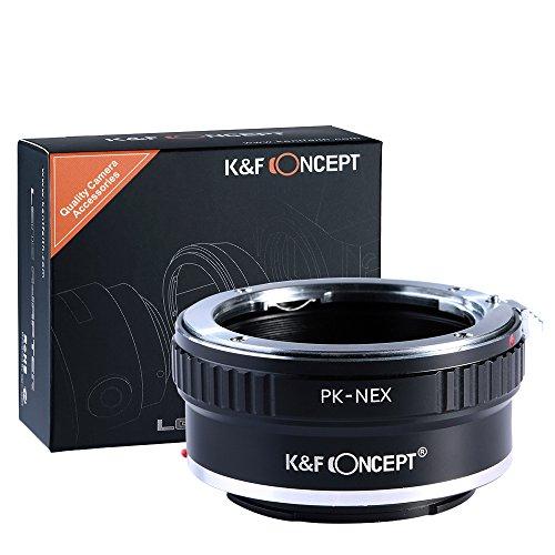 K&F Concept® PK-NEX Objektivadapter,Adapter Ring,Sony NEX Adapter,Objektiv Adapterring für Pentax PK K Mount Objektiv auf Sony NEX E-Mount Kamera Sony Alpha NEX-7 NEX-6 NEX-5N NEX-5 NEX-C3 NEX-3